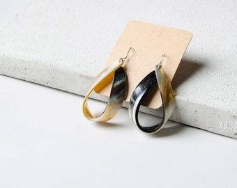 Drop Shape Horn Earrings