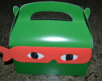 12 Teenage Mutant Ninja Turtle Inspired Party Favor Boxes/Ninja Turtles/Ninja Turtle Favor Boxes/Favor Boxes/Ninja Turtle Treat Boxes