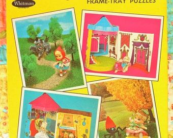 Storybook Kiddles Frame-Tray Puzzles Mint Whitman Circa 1968