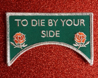 To Die By Your Side Embroidered Patch The Smiths Morrissey Salford Lads Club The Queen is dead England is Mine