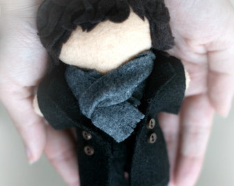 "Consulting detective Sherlock Holmes inspired plush doll - ""Officially Unofficial"" Plush - Felt Doll, Hand Sewn"