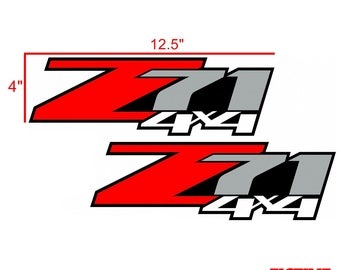 Chevrolet Z71 4x4 Vinyl Decal Set (2 Stickers