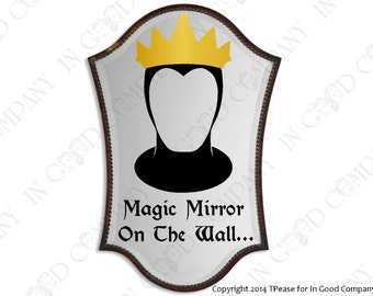 Snow white mirror etsy disneys queen from snow white inspired mirror decal about 12 teraionfo