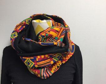 On sale snood scarf//Kente infinity scarf //African scarf//African infinity scarf