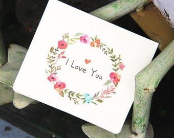 Card love you + envelope