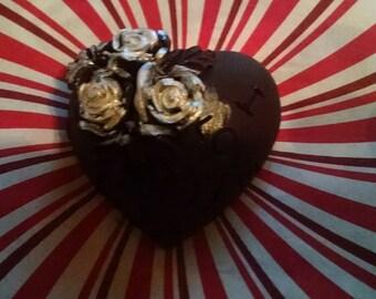 Hand painted vegan chocolate hearts!