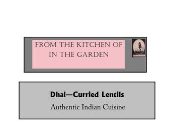 Recipe Indian Curry Lentils Spit Peas Dhal Vegetarian Dinner Meal Supper