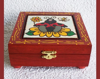 Handmade Jewelry Box Ladybug