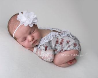 Newborn photo prop, baby photo prop, newborn romper, baby romper, romper set, newborn romper set, baby romper set, floral romper, photo prop