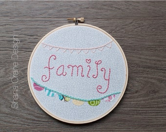 Family . Embroidery Hoop