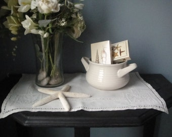 Simple vintage off white bowl