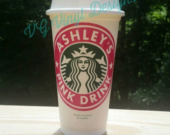 Personalized Plexus Pink Drink Starbucks Cup - Custom Starbucks Cup Gift - 16oz Starbucks Cup - Personalized Starbucks Tumbler - Plexus Slim