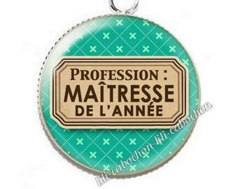 Pendant cabochon resin profession: teacher p55
