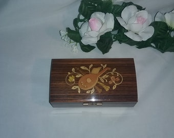 """Vintage Italy Reuge swiss Musical Movement box plays """"More"""" by Bobby Darin"""