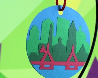 Boston Paper Ornament