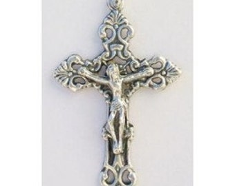 Set of 5 Fleur-de-Lis Loreto Crucifix - 1 5/8 inches -  Italian