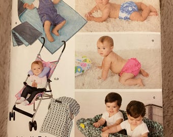 Simplicity #1481 Babies' Accessories and Swim Diaper sewing pattern All sizes UC Uncut FF