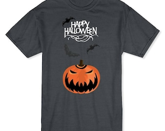 Happy Halloween Classic Scary Pumpkin Men's Dark Heather T-shirt