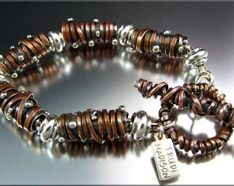 GET WIRED Sterling Silver and Copper Bracelet