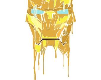 Ironman Digital Illustration - Canvas - 20x30