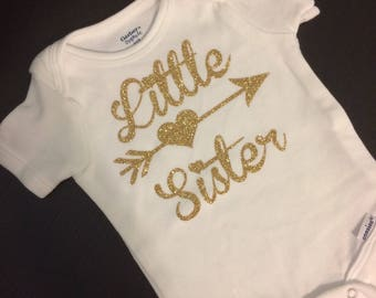 Little Sister ~ Personalized Baby Bodysuit