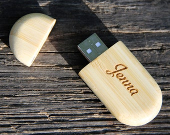 Personalized Bamboo 4 GB USB Flash Drive