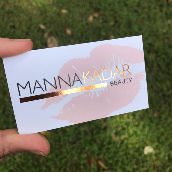 Rose gold foil business cards perfect for makeup artist colourmoves Images