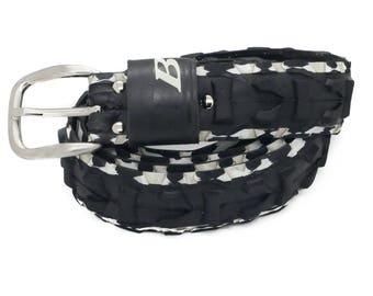 """Bicycle Tire Belt """"B"""" (upcycled vegan handmade) by tirebelt.com - Fall Collection 2017"""