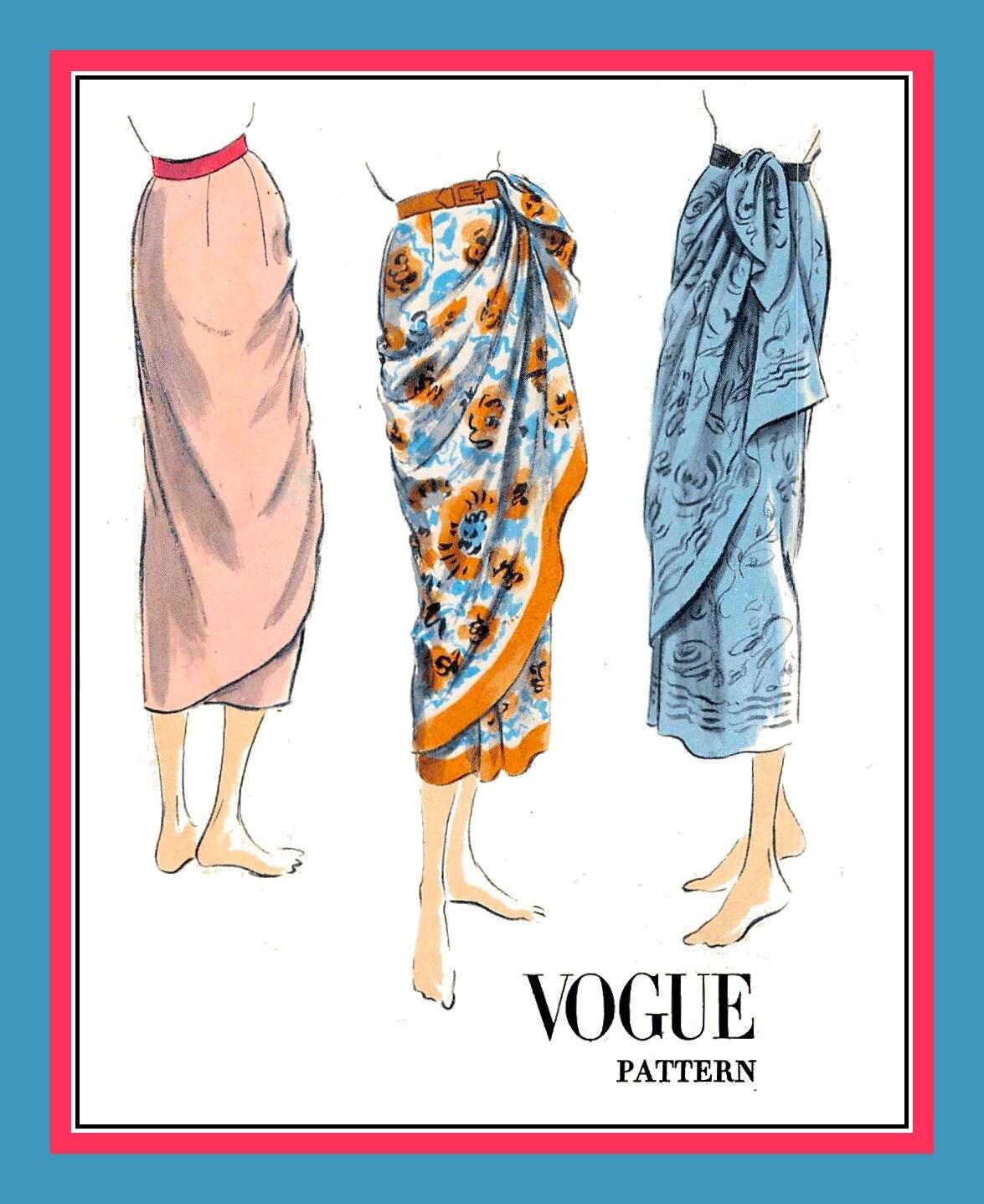 Jahrgang 1951-WRAP-AROUND-SARONG Rock-Vogue Nähen