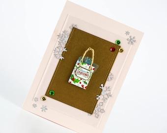 Christmas Gift Bag Holiday Card