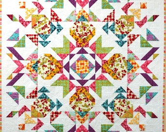 Parterre Quilt from Farmer's Market fabric