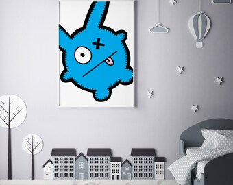 """Monster Poster Print Wall Art by BABUA – """"George"""" 