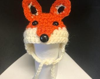 Fox Beanie . Please check measurements in photos.