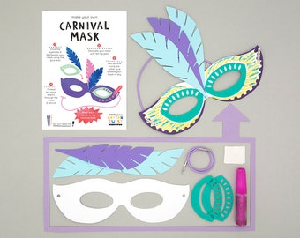 Make Your Own Carnival Mask Kits - Carnival Party Bags, Circus Party Bags, Carnival Birthday, Circus Birthday, Carnival Mask Kit