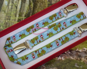 "Original gift box clip pacifier and clip ""The little Red Riding Hood"" blanket-"
