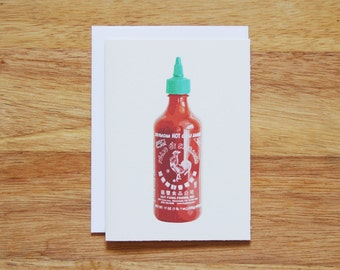 Sriracha Greeting Card