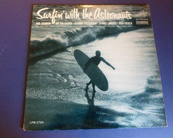 On Sale Vintage Surfin' With The Astronauts Vinyl Record LPM-2760 RCA Victor Dynagroove 1963 Rare