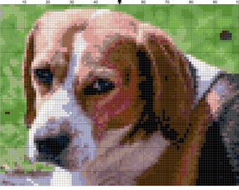 Cross stitch beagle dog pdf pattern