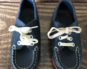 Vintage Superoos navy Loafers Toddler shoes size 5