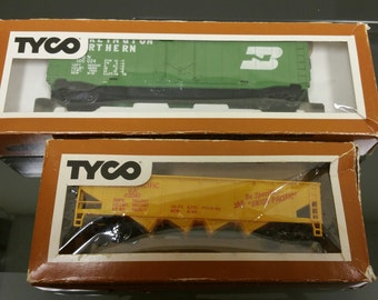 Set of 2 1975 Tyko Train Cars