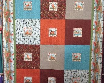 Wild Wood lap quilt kit