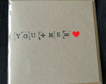 Love Equation Card