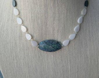 Mother of Pearl Necklace with Abalone Pendant