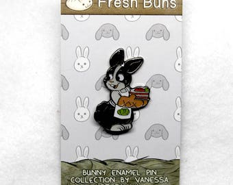 Dutch Carrot Cake Bunny Rabbit Enamel Pin - House Rabbit - Soft Enamel Pin - Bunny lapel pin - Bunnies gift