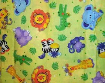 Green Jungle Babies Fabric