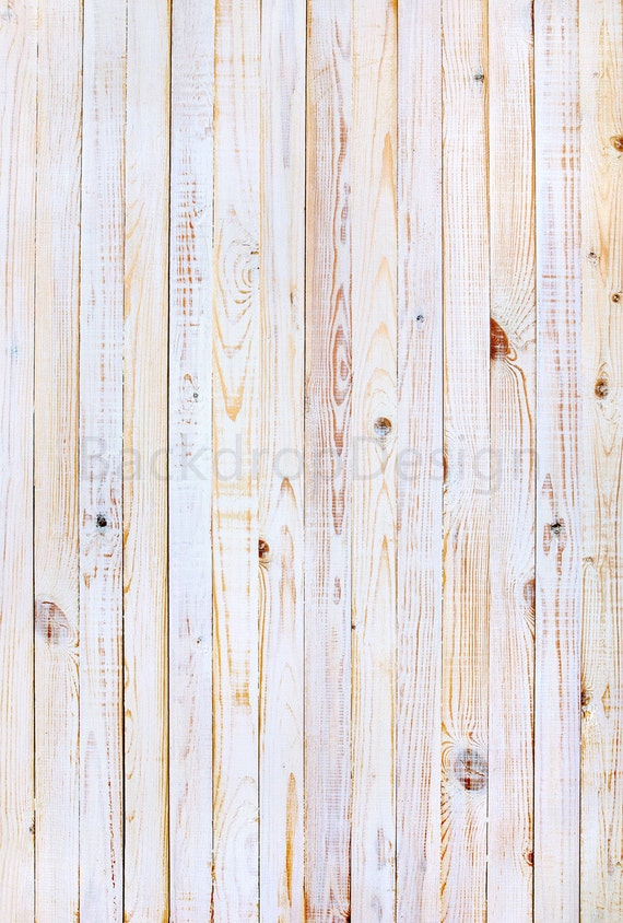 White Washed Wood Backdrop Brushed Plank Wooden Floor