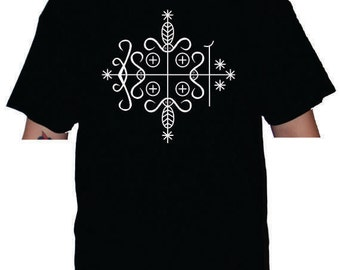 Papa Legba Veve version 2 Men or Women's t-shirt or Racerback Tank top