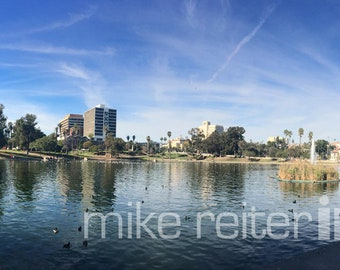 MacArthur Park Downtown Los Angeles Panoramic Photograph