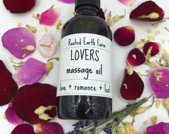 Sensual Massage Oil, Lovers Oil, Gifts for Her, Organic Massage Oil, Rose Massage Oil, Herbal Massage Oil, Massage Oil, Love Oil, Rose Oil