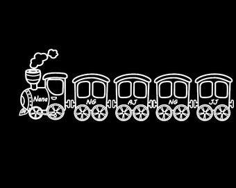 Train Family Car Decal